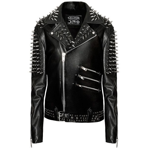 Mens Spike Leather Jacket B