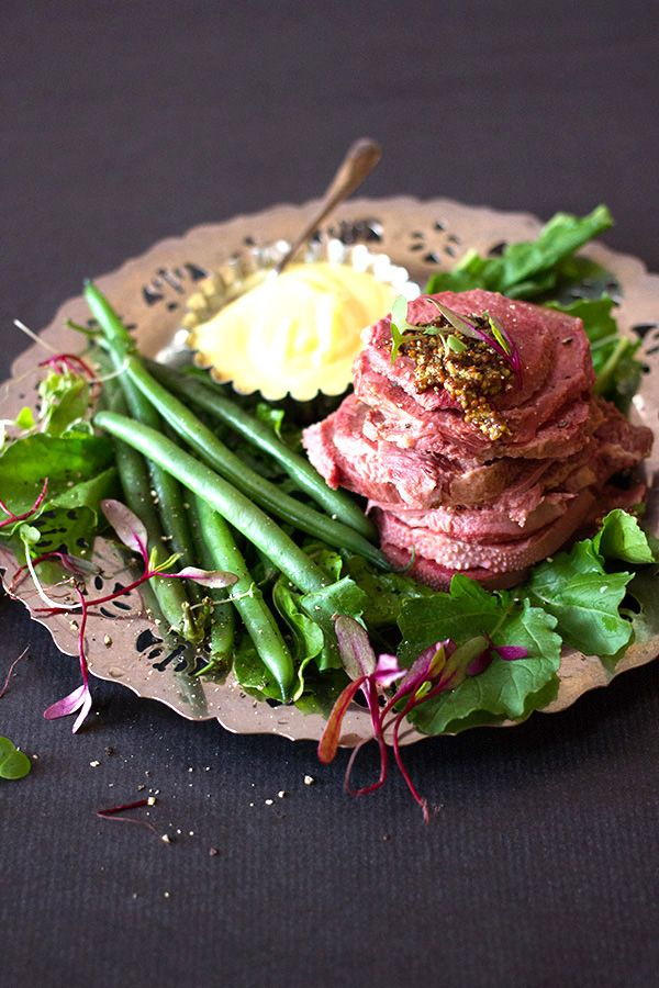Pickled Tongue with Sweet Mustard Sauce