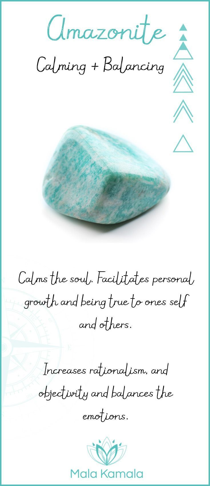 Pin To Save, Tap To Shop The Gem. What is the meaning and crystal and chakra healing properties of amazonite? A stone for calming and balancing. Mala Kamala Mala Beads - Malas, Mala Beads, Mala Bracelets, Tiny Intentions, Baby Necklaces, Yoga Jewelry, Med