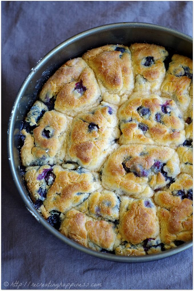 Sweet gluten free biscuits filled with blueberries.  Uses coconut flour &…