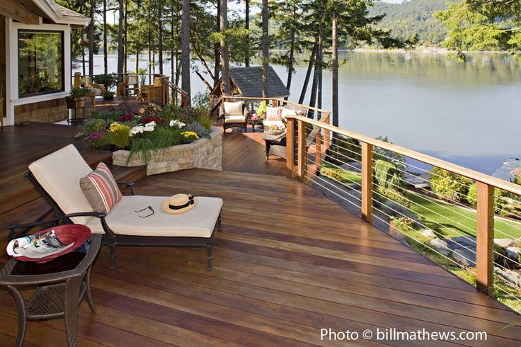 Wood #deck with wire rail. Call us today! (503)760-7725