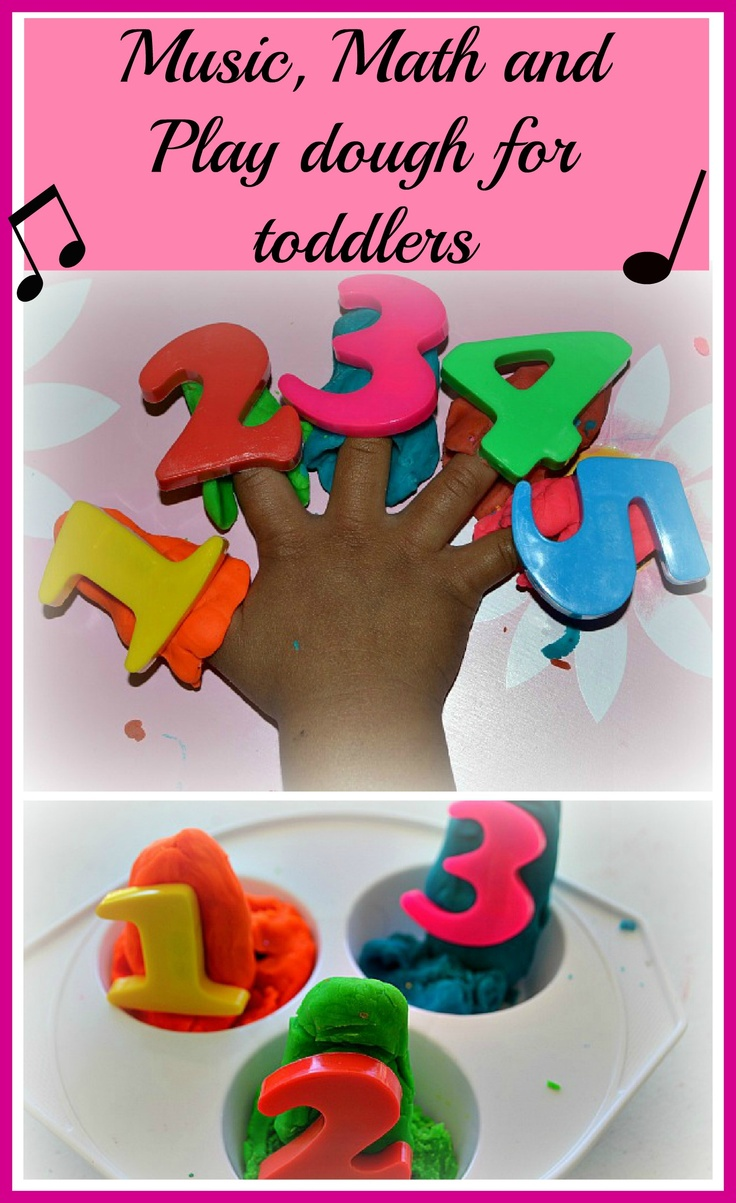 Music, math and play dough fun for kids