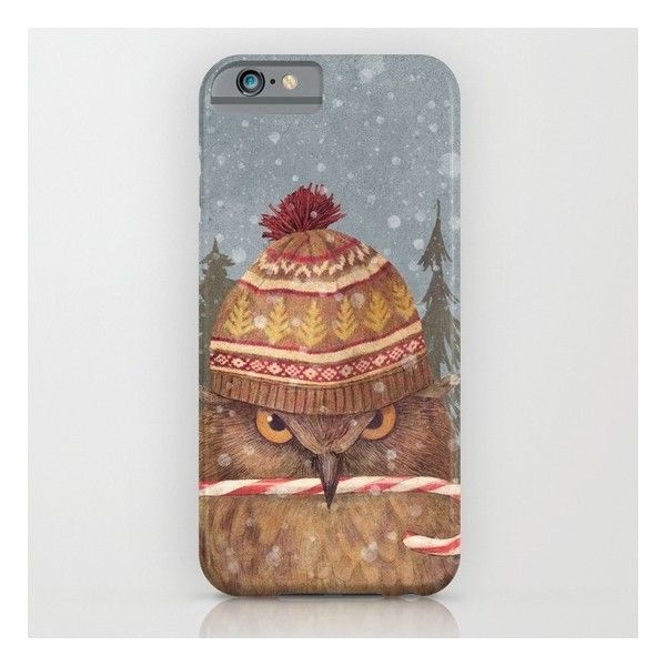 Christmas Owl  iPhone 6s Case ($35) ❤ liked on Polyvore featuring accessories, tech accessories and iphone & ipod cases