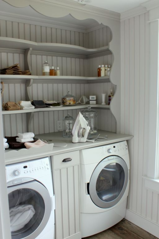 discount rings Counter top and then detergent pull out shelf in the middle. Make sure countertop is deep enough. | Design Ideas |  | Laundry, Laundry Rooms and Ponds
