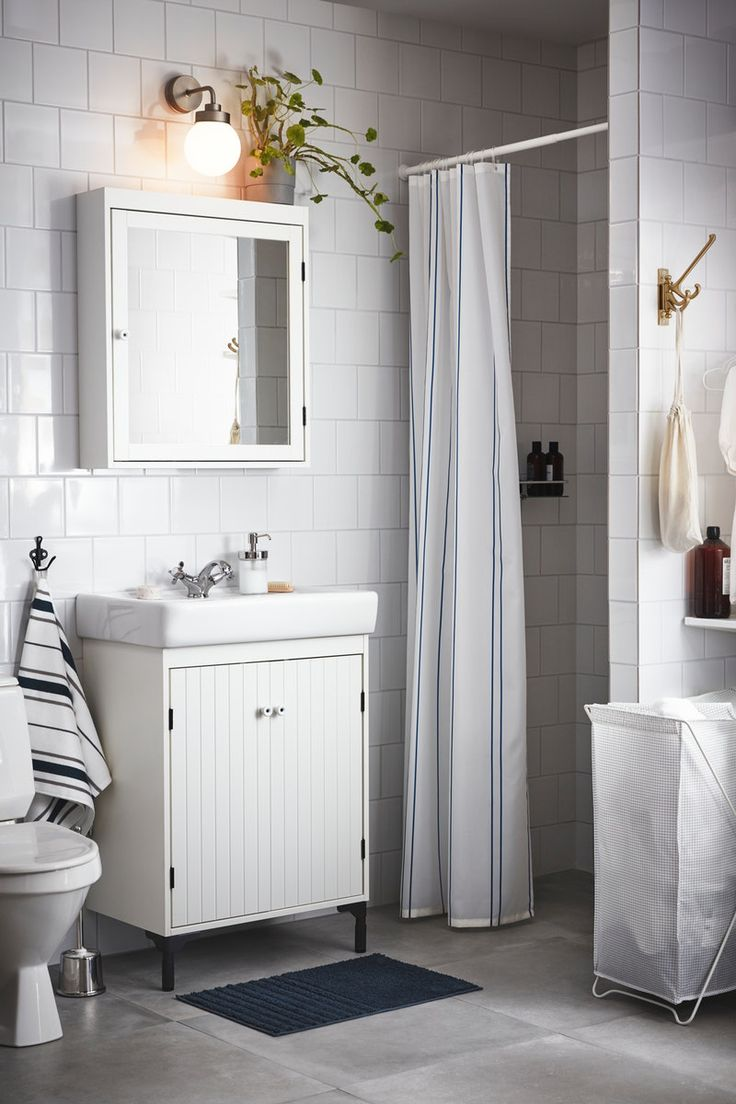 SILVERÅN Spiegelschrank, weiß, 60x14x68 cm ...
