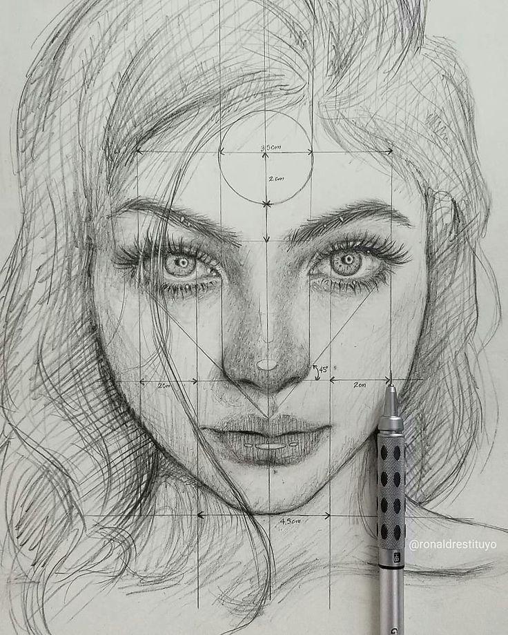 Картинки карандашом поэтапно портреты