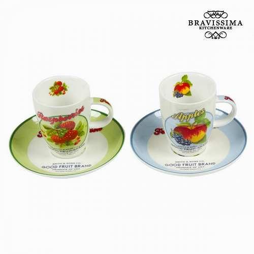Prezzi e Sconti: #Tazza con scatola set da 2 fruits kitchens  ad Euro 14.90 in #Bravissima kitchen #Cucina stoviglie e accessori