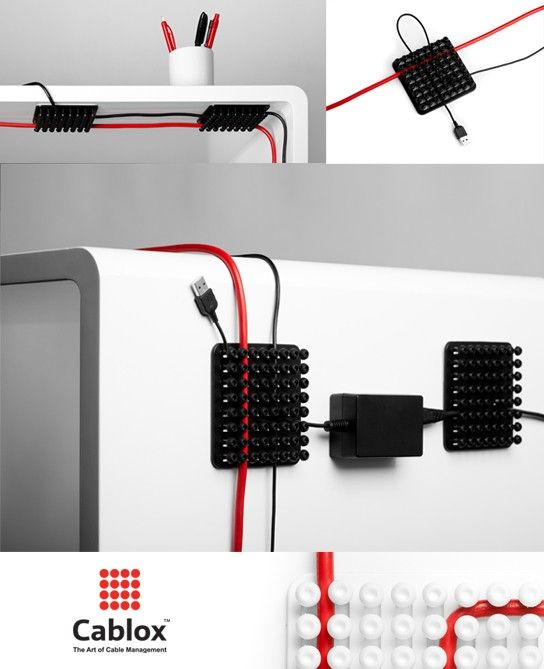 $9.99 Cablox | The Art of Cable Management | 2-pack - This is a great product from our Danish colleagues at Haveas - #cablox #cableorganizer For more visit: store.theproductfarm.com @Matt Nickles Nickles Valk Chuah Product Farm