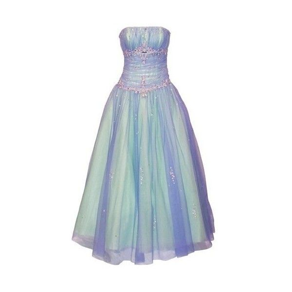 PacificPlex Beaded Mesh Fairy Prom Dress Formal Ball Gown ... | Polyv… ❤ liked on Polyvore featuring dresses, gowns, formal prom dresses, beaded gowns, formal evening dresses, prom ball gowns and blue prom dresses