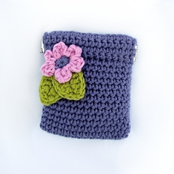 Pattern Crochet Coin Purse Squeeze Pinch Frame with Flower Instant ...