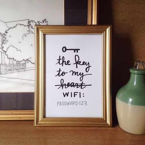 26 Best Wifi Password Printable Images On Pinterest