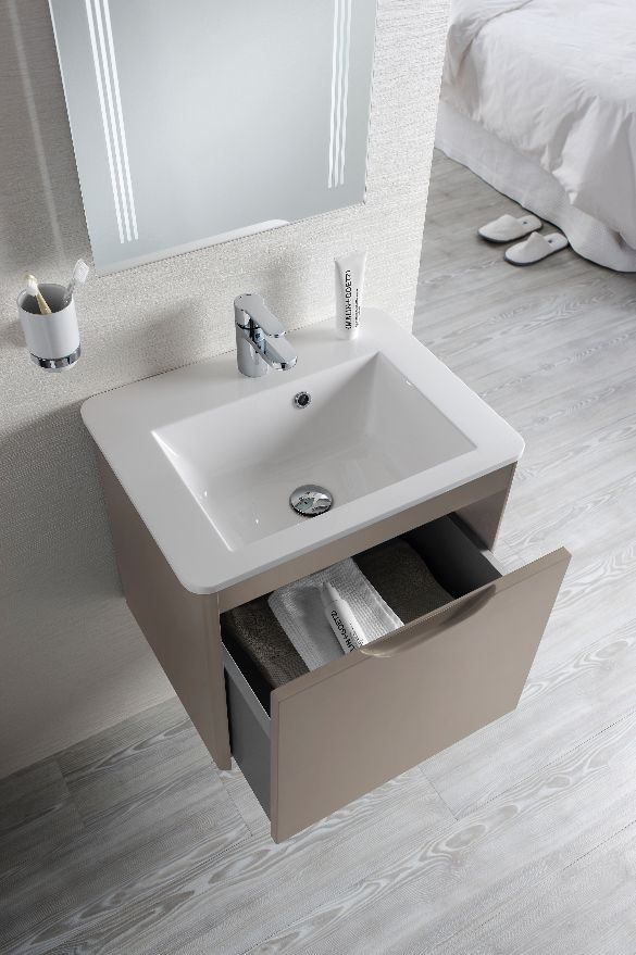 featuring subtly curved edges and a sleek drawer front bauhaus solo 50