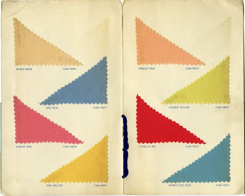 The Textile Color Card Association.  Summer colors 1933.