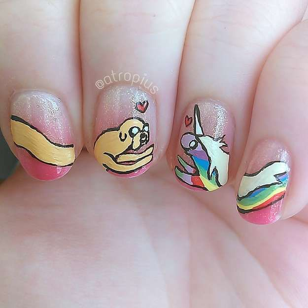 123 best fancy nail art images on pinterest fancy nail art 29 examples of marvellously geeky nail art prinsesfo Image collections