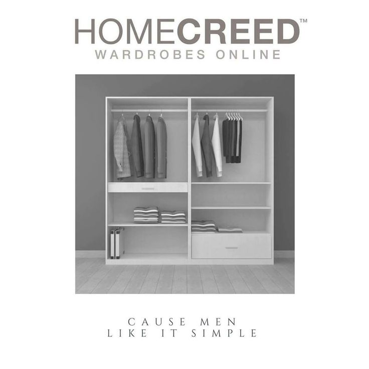An organized wardrobe makes easier for men to get ready in the morning. With HomeCreed, you can choose wardrobes where Storage and style comes together to create an organized bedroom you've been dreaming of!