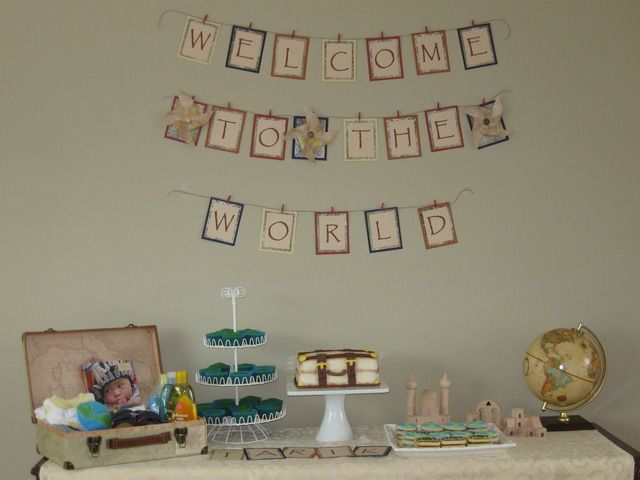 """Photo 1 of 35: Welcome to the World / Baby Shower/Sip & See """"Nora's Baby Shower""""   Catch My Party"""