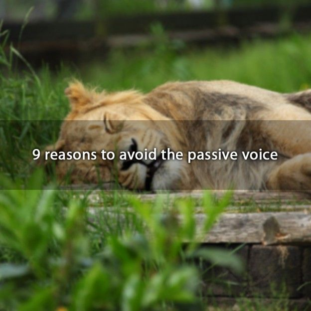 how to avoid a passive voice in writing