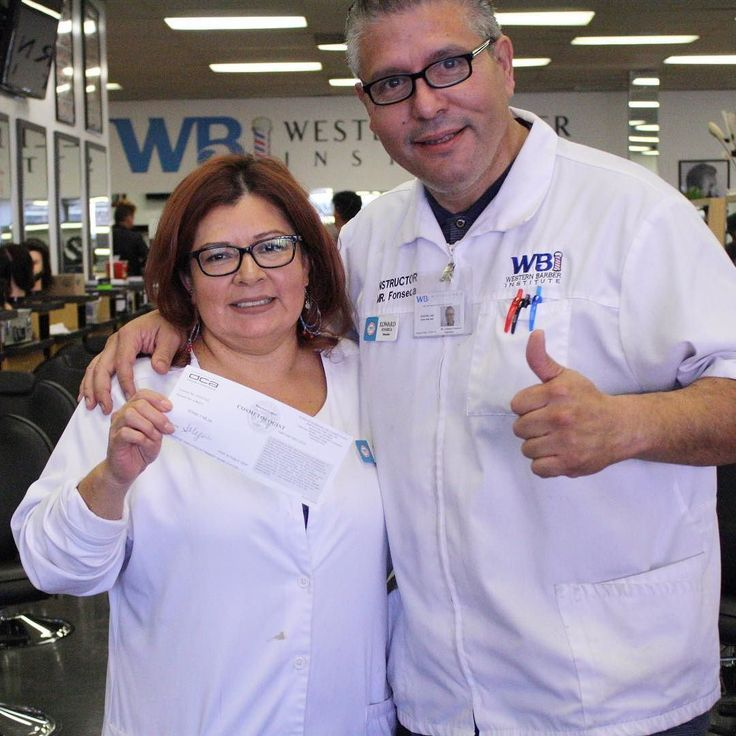 Congrats to our Cosmetology instructor Sonia Mejia for receiving her barber license!  #westernbarberinstitute #barberlife #barberschool #beautyschool #wbicosmetology #licensedbarber #cosmetologist #wbi