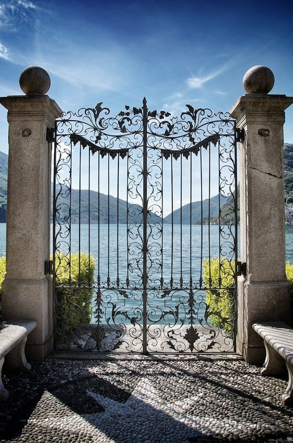 Lugano, Switzerland... i have the sweetest picture of my oldest daughter in front of this gate. She was just 6. Lovely place!