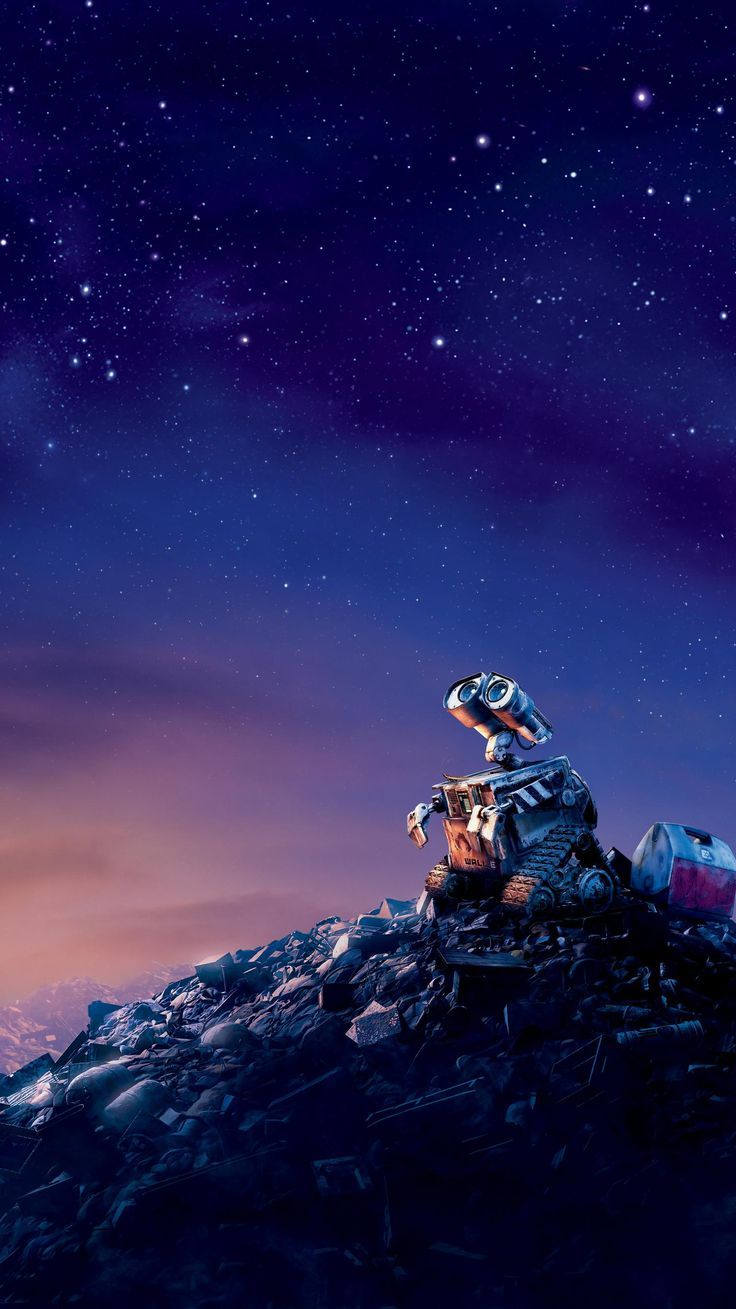 WALL·E (2008) Phone Wallpaper | Movie Backgrounds  #MovieWallpaper #Backgrounds…