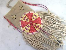 Native American style quilled bag