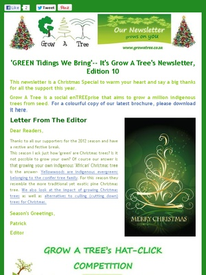 Edition 10- 'Green Tidings We Bring' Christmas Special, December 2012