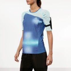 CORRIDA - roupa Corrida, Atletismo, Trail - T-SHIRT CORRIDA ELIO PLAY AZUL KALENJI - Roupa de Corrida