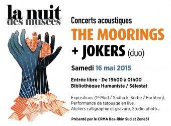 La nuit des musées - Concerts acoustiques Selestat - 16 Mai 2015 - The Moorings & Jokers