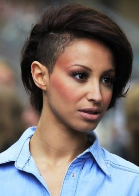 Amelle Berrabah-Celebrities with the shave/different styles