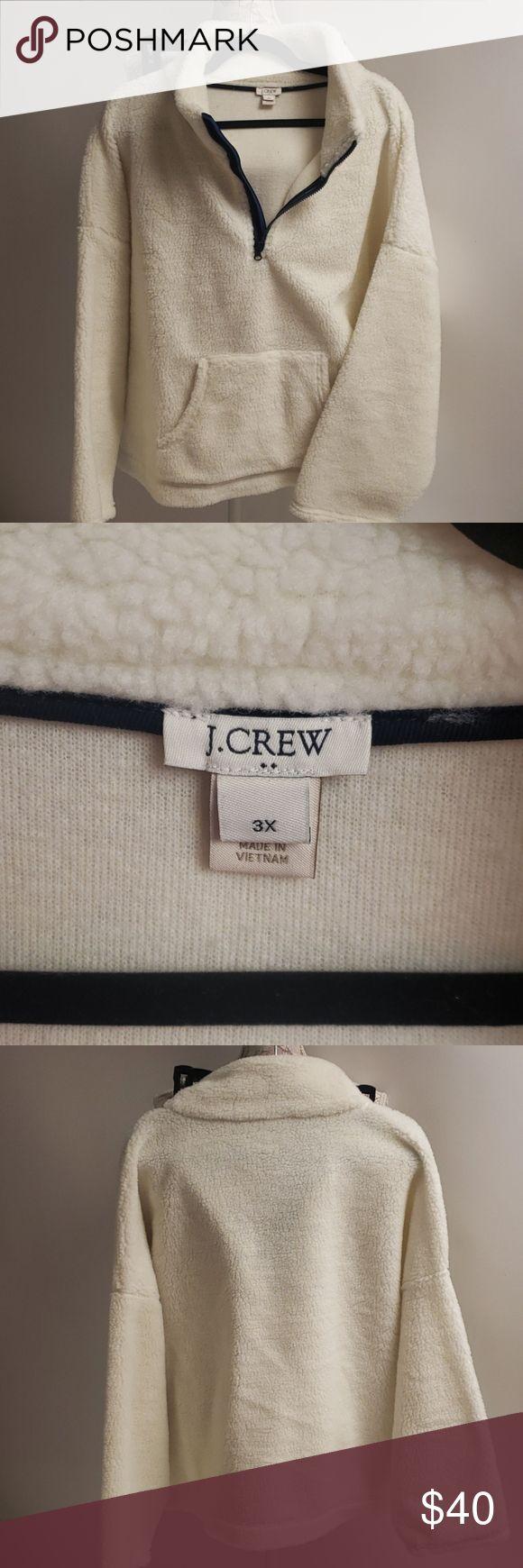 Jcrew plus Sherpa pullover sz 3x in 2020 | Sherpa pullover ...