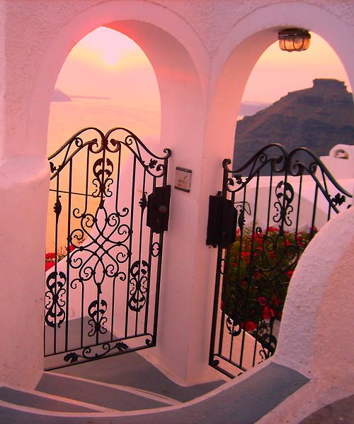 Sunset, Santorini, Greece- It actually is this beautiful...