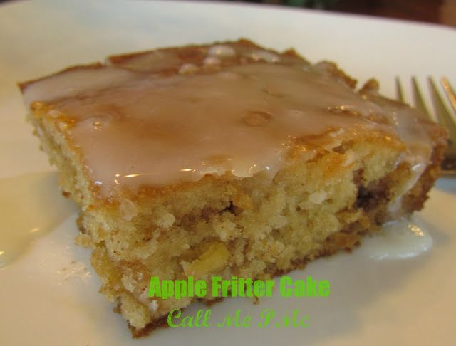 Blue Ribbon Apple Fritter Cake  - #callmepmc