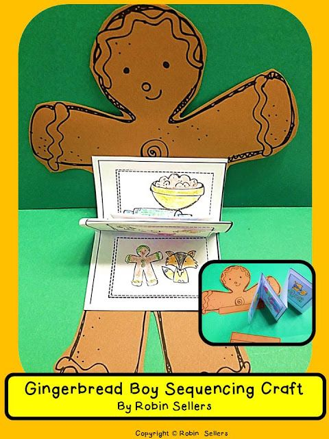 gingerbread man sequencing skills and story retelling craft