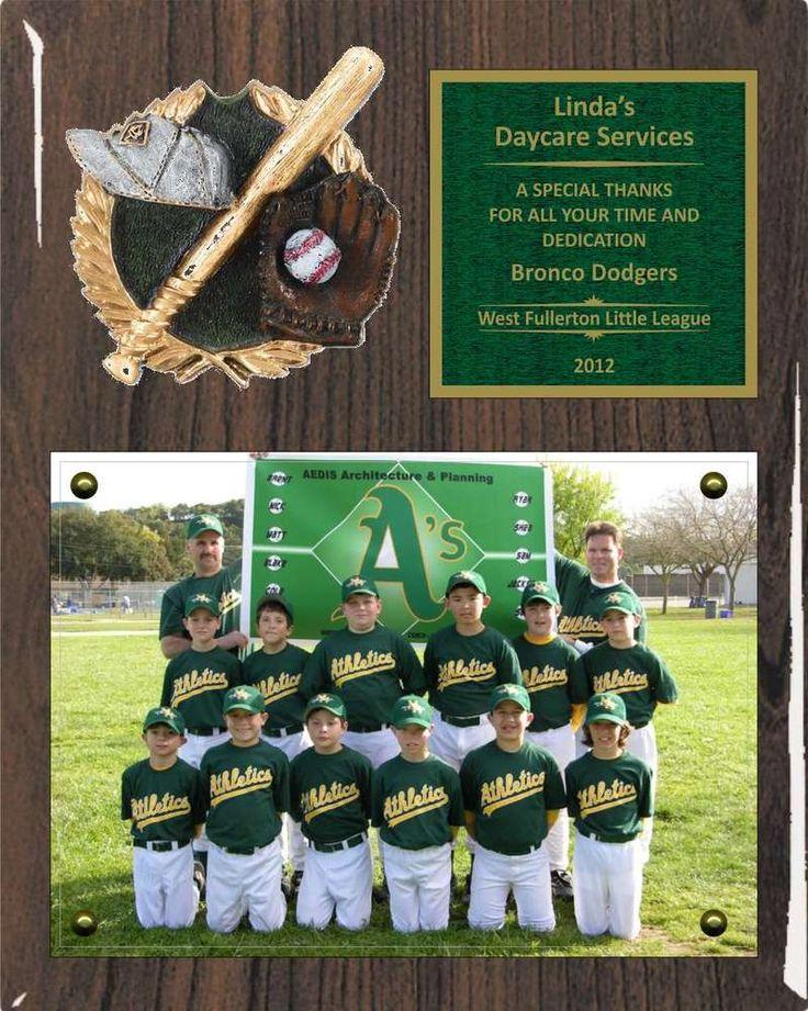 8 x 10 Photo Sponsor / Coach / Team Mom / Appreciation Plaque 3D PM - Free Engraving - Daves Trophies