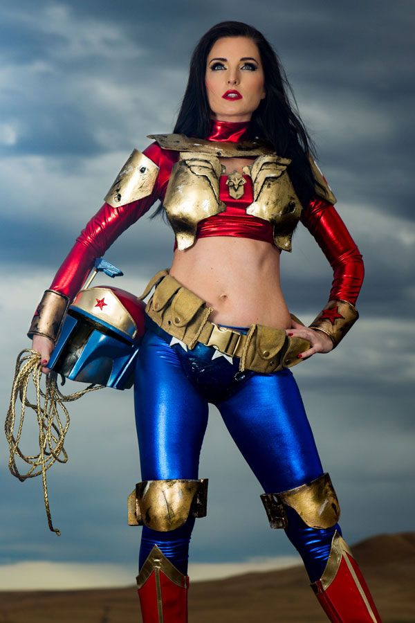 If you've ever wondered what Wonder Woman would look like as a Mandalorian bounty hunter, well, worry no more and check out Alkali Layke'a amazing costumes beautifully.