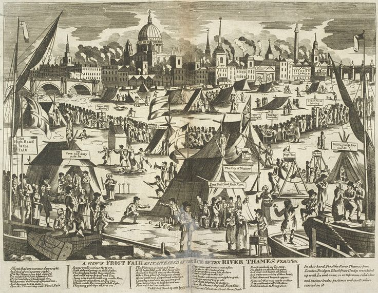 On the 1st February 1814, the last Thames Frost Fair began and lasted 4 days.
