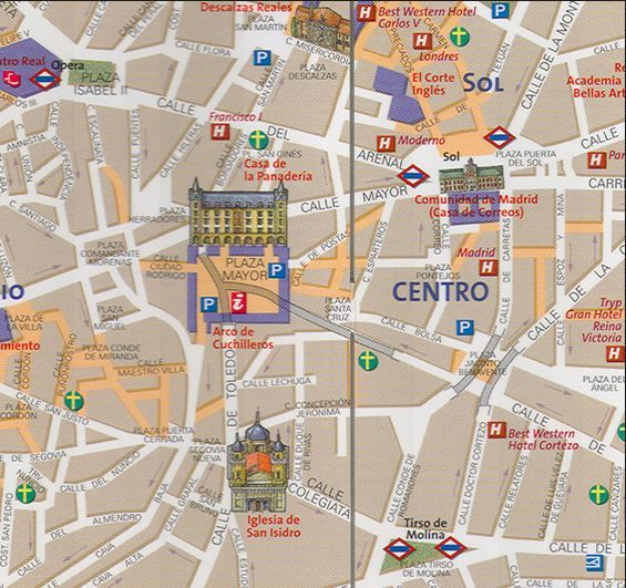 map of madrid- easy to read!