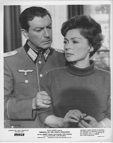 Lilli Palmer & Robert Taylor in Miracle of the White Stallions
