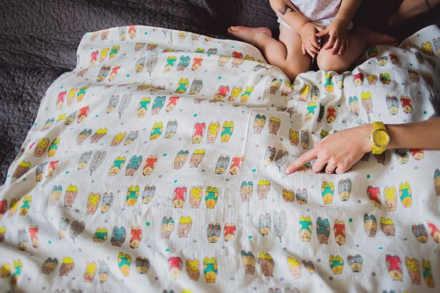 Muslin-bamboo swaddle. Designed by Pink No More.