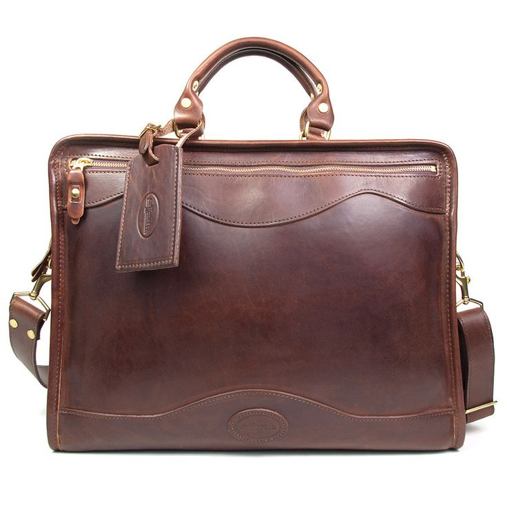 J. W. Hulme Co. Slim Portfolio Briefcase, American Heritage Brown Leather