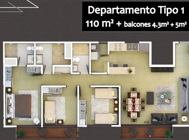 #Departamentos en venta en #CDMX #Narvarte de 110m2.
