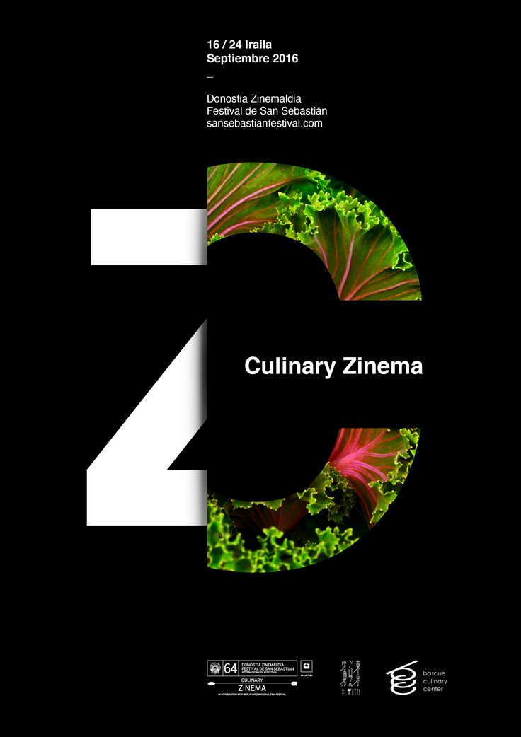 The San Sebastián International Film Festival Poster by Xavier Esclusa Trias finalist in the Culinary Zinema category