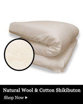 Japanese Organic Cotton Shiki Futon Shikibuton   3 5 7 Inch   Firm