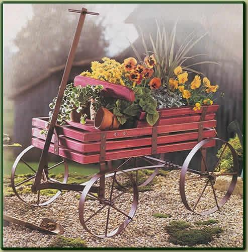 Flower Cart In The Wagon · Flower CartOutdoor PlantsOutdoor ...