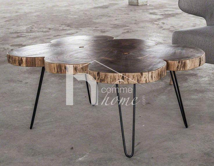 12 best table basse design et industrielle images on. Black Bedroom Furniture Sets. Home Design Ideas