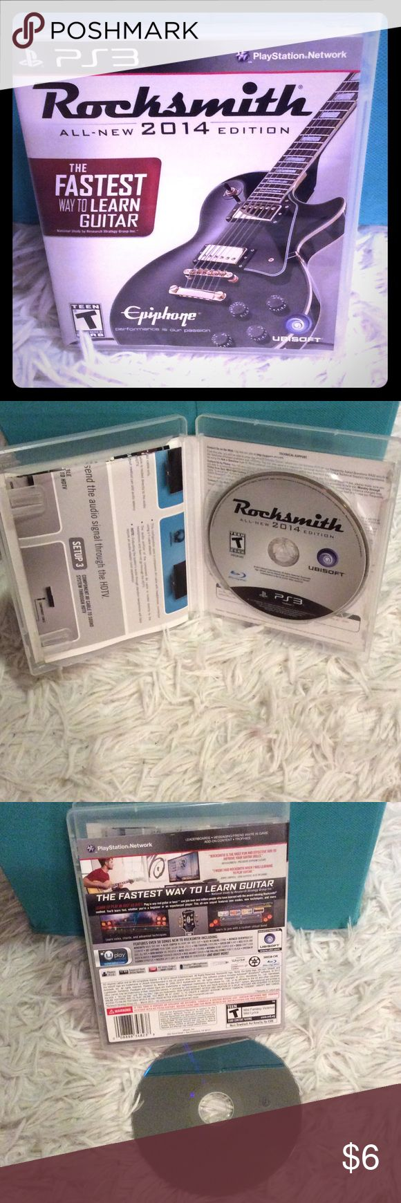"""Play Station 3 Rocksmith 2014 Game. Like New! Selling a practically new 2014 edition of """"Rocksmith"""" for PS3. Tested and guaranteed to work! Play Station 3 Other"""