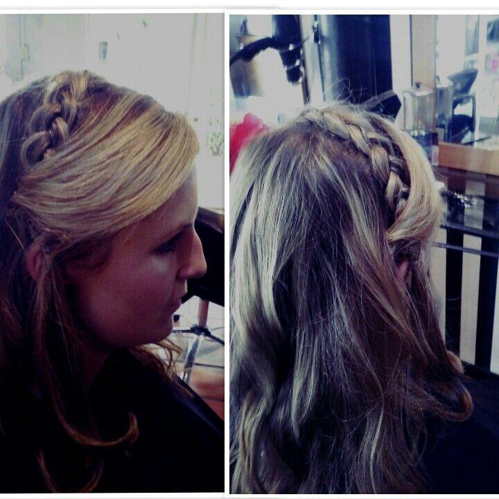 Braid as a headband #hair #fun #Partytime #boho #glam #blonde #braids #styledbymia