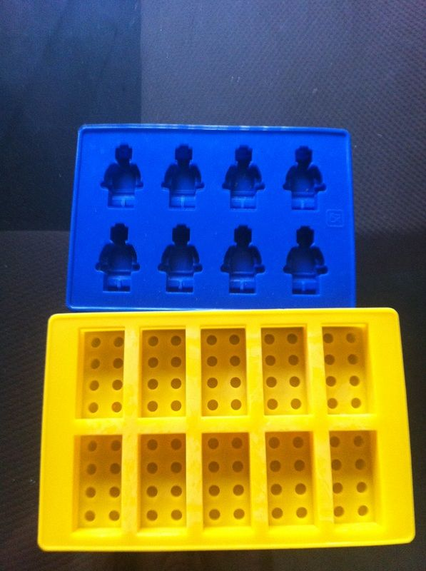 Lego Party silicone molds.  I couldn't find these at any of the stores I looked at.  I ended up finding them on ebay.  I made the block Lego out of colored candy melts for toppers on my cupcakes.
