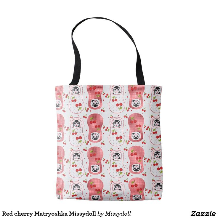 Red cherry Matryoshka Missydoll Tote Bag