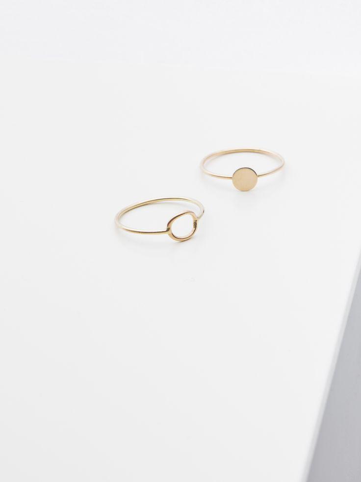 ring - lei - and ring - nina - Anna Lawska Jewellery